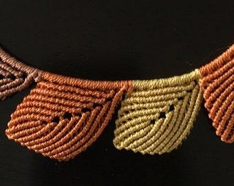 Leaf Macrame Necklace