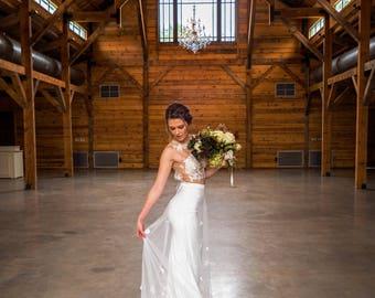 Bridal skirt etsy lace bridal skirt embellished bridal skirt custom bridal skirt wedding skirt chapel junglespirit Images