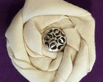Ladies Fashion Pin Jewelry, Rolled Rose Pin, Rolled Rose Brooch, Rolled Fabric Brooch, Pin, Brooch, Flower Accessory,Fabric Flower Pin,