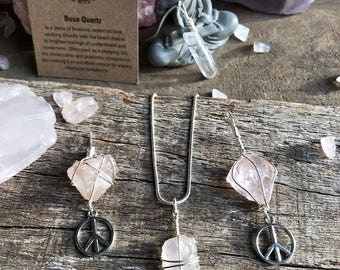 Rose Quartz Gemstone Pendants