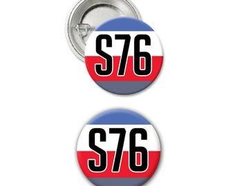 b19 - SOLDIER 76 S76 BUTTON Pin - Pinback Button