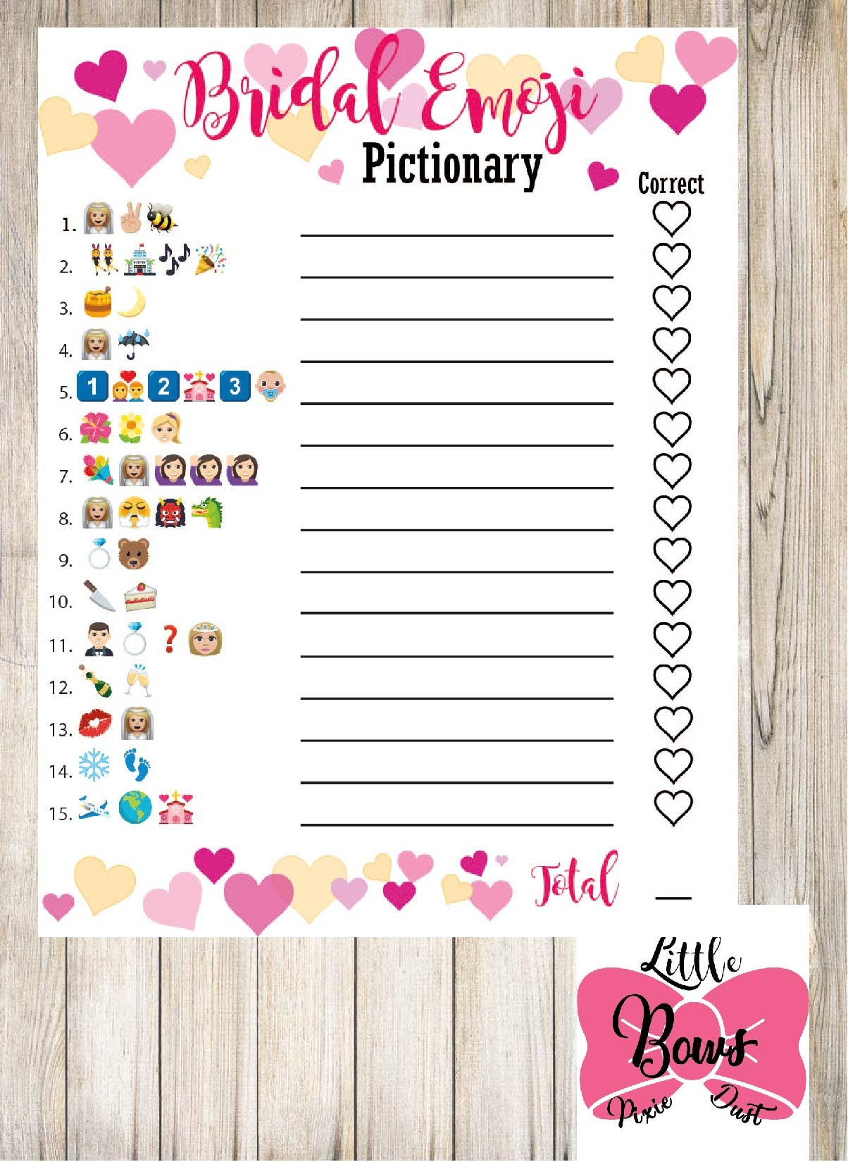 Delicate image with regard to wedding emoji pictionary free printable