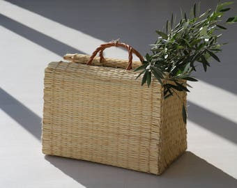 Reed Bag, portuguese basket bag, summer basket bag, market bag, Portugiesischer Korb, panier portugais, cesta de mimbre, natural basket bag.