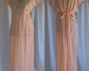 Vintage 1920's Cotton Nightgown by Lady Peer -New with Tags