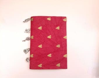 Alice in Wonderland Notebook Blank with Charms