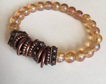 Vintage Iridescent Glass Bracelet