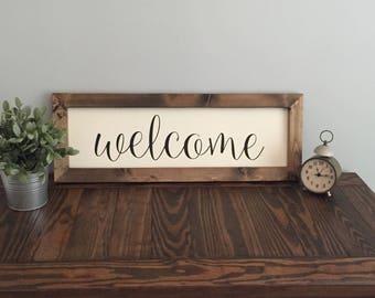 Welcome Farmhouse Sign | Farmhouse Sign