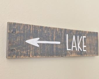 Lake Pallet Sign