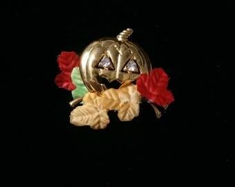 Holloween pumpkin vintage Brooch