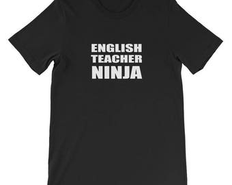 English Teacher Ninja Shirt Teaching Education Tee