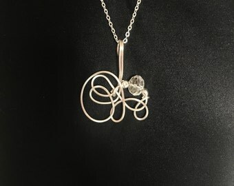 Crystal swirl  gemstone Necklace