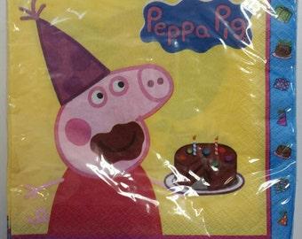 Peppa Pig Napkin, Peppa Pig Party, Peppa Pig Decorations