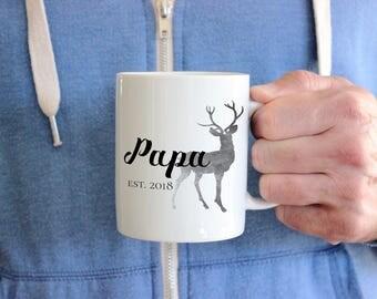 Father's Day Mug, Papa Mug, New Grandpa Gift, Gift For Grandfather, Pregnancy Announcement Mug, Grandpa To Be Mug,  Pregnancy Reveal Mug