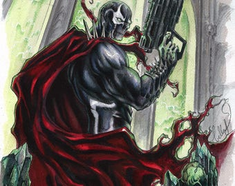 Spawn in watercolors and copics