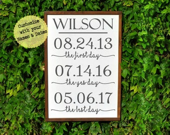 Personalized wedding gift for couple engagement-Last Name sign gift for wife-bridal shower gift custom-bride from groom gift-wedding sign