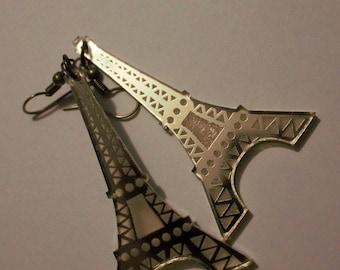 Eiffel Tower Earrings - Acrylic - Laser Engrave