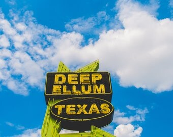 Deep Ellum Sign, Dallas, Texas, 5x7 Fine Art Matte Print, Texas Photography, Urban Decor