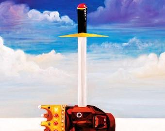 Kanye West Power Poster | Kanye West My Beautiful Dark Twisted Fantasy Poster Artwork