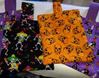 Halloween Trick or Treat Bags - Fully lined, padded handles (postage applies to first item only)