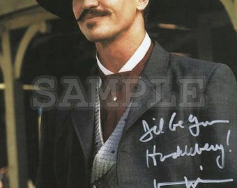 Doc Holliday Tombstone signed 8x10 Val Kilmer Autograph RP - Great Gift Idea - Ready to Frame photo picture