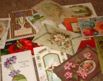 30 Vintage Postcard Lot (CRAFT LOT #6)
