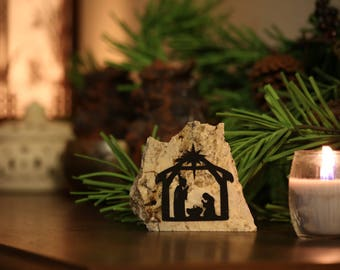 Inside the Stable- Granite Nativity