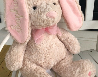 Plush Bunny/Easter Toy/Plush Easter Rabbit/Personalized Easter Gift/Easter Rabbit/Easter Baby Gift/Easter Bunny with Monogramming