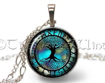 Yggdrasil Necklace, Viking Necklace Tree of Life, Viking Jewelry, Runes Necklace, Viking Pendant, Celtic World Tree, Norse Mythology, Asatru