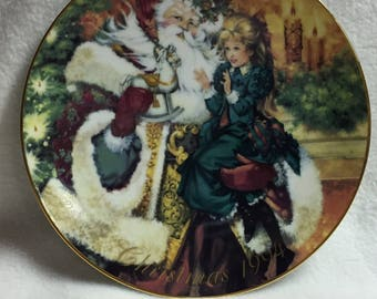 Avon 1994 Christmas Collector Plate - The Wonder of Christmas (#107)