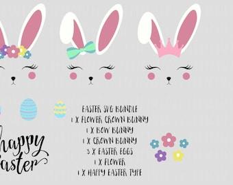 BUNDLE Svg Easter Bunny Bunny Ears Rabbit svg, Easter SVG, SVG Easter Files, Easter Vinyl Designs, Easter cricut, Bunny Unicorn svg,