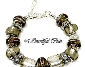 Bronze Mist European Style Charm Bracelet