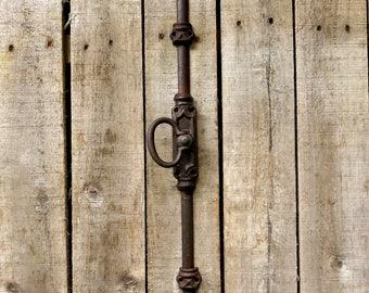 Antique Iron Cremone French Window Handle Latch Bolt