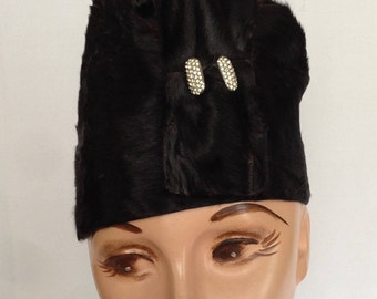 1920's Beaver Skin Black Cloche Flapper Hat