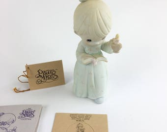 Vintage Precious Moments Once Upon A Holy Night Special 1990 Issue Figurine 523836