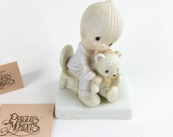 Vintage Precious Moments Bear Ye One Another's Burden Figurine E-5200