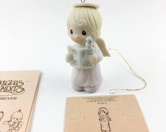 Vintage Precious Moments Let Heaven And Nature Sing Ornament Figurine E-0532