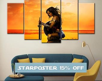 Wonder Woman canvas, Wonder Woman poster, DC comics canvas, Wonder Woman art, DC comics wall art, Wonder Woman print, DC comics art