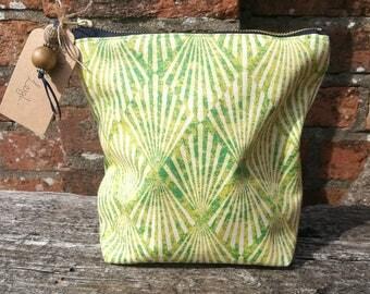 Art Deco Sunburst Inspired Makeup Bag