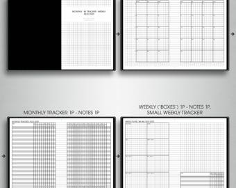 MONTHLY-WEEKLY planner 2018, #M-WB1,S (a6 inserts printable, a6 tn inserts, a6 travelers notebook inserts printable, a6 planner inserts)