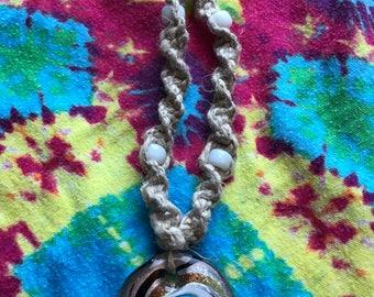 Handmade Glass Hemp Necklaces