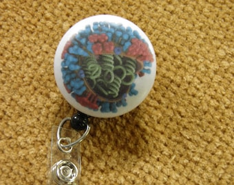 Flu Virus Badge Reel, ID Holder