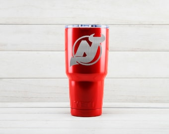 Yeti Tumblers Engraved With New Jersey Devils Personalized Yeti Tumblers 20 oz New Jersey Devils Yeti Gift For Men