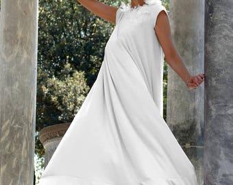 White Maxi Dress, Summer Dress, Long Dress, Long Maxi Dress, Dress, Plus Size Dress, Maxi Dress, Loose Dress, Party Dress, Markiiza