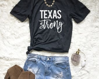 Texas Strong Shirt - Texas Shirt - Texas Tee - Texas Tshirt - Texas T-Shirt - Houston Strong - Hurricane Harvey Shirt - Donation Shirt
