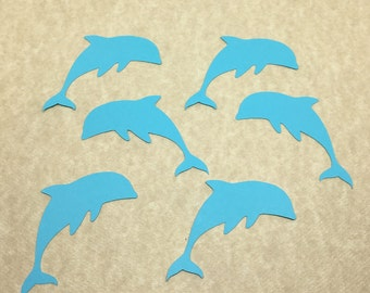 30 Dolphin Cardstock Die Cut Cut Outs