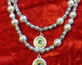 Shotgun Wedding Double Strand Bridal Necklace