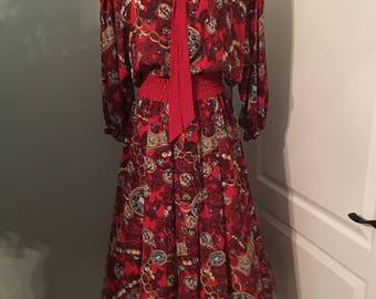 Diane Freis Boho Jewl Print Dress