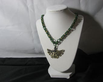 Legend of Zelda themed chainmaille necklace