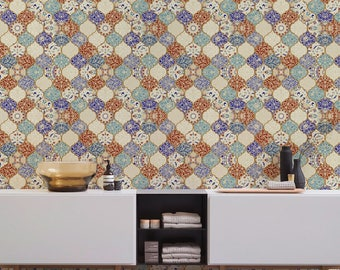 Removable Wallpaper Tiles moroccan wallpaper peel and stick temporary wallpaper