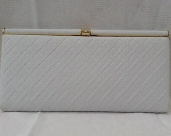 Retro White Clutch Bag
